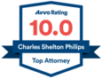 AVVO Rating - Chuck Philips, auto accident lawyer Trinity, FL